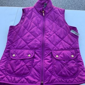 NWT New Directions Quilted  Vest